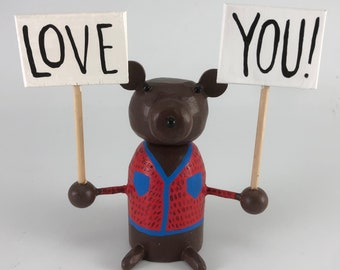 bear who loves you sculpture