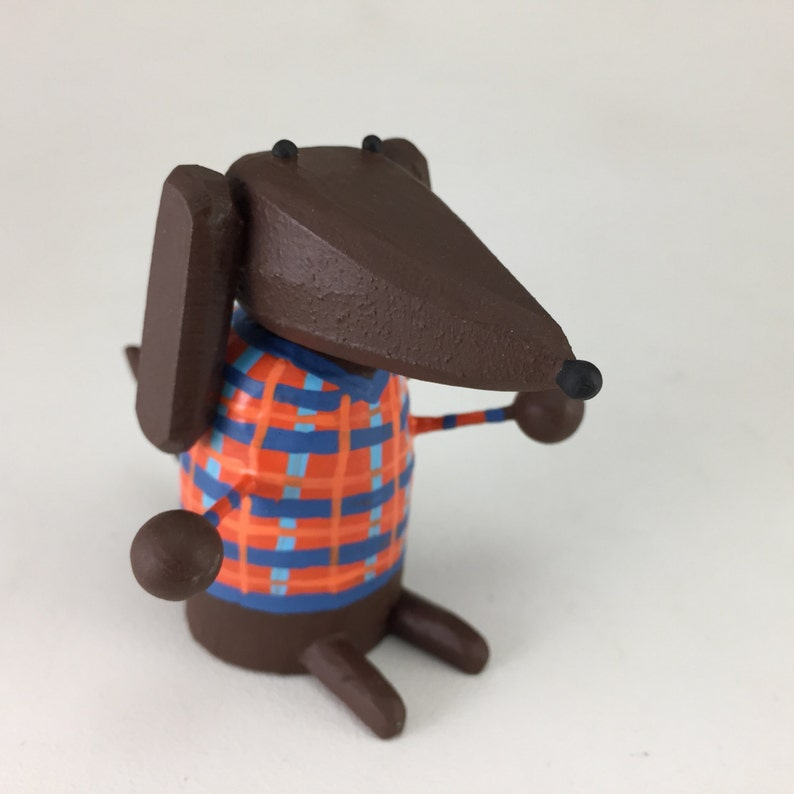 Doxie in a Plaid Shirt image 0