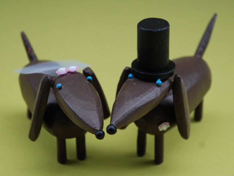 Dachshund Wedding Cake Toppers image 0