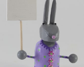 bunny with customizable sign