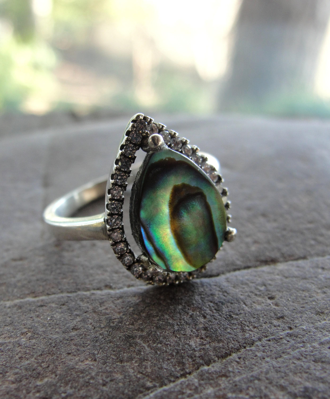 Abalone Ring Size 7.5