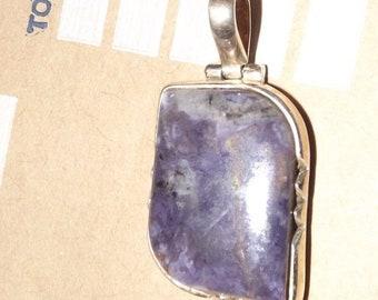 4f417bc93 ON SALE Tiffany Stone pendant - Purple Bertrandite - Success Stone- Utah  mined -highly energetic -boosts sex drive