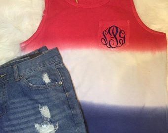 4th of july tank, patriotic tank, red white and blue tank, flag shirt