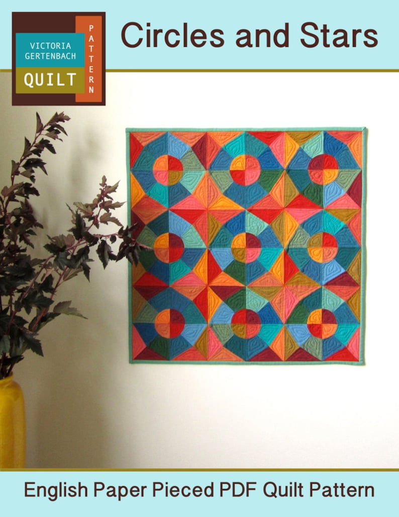 Pdf Quilt Pattern  Circles and Stars English Paper Pieced image 0
