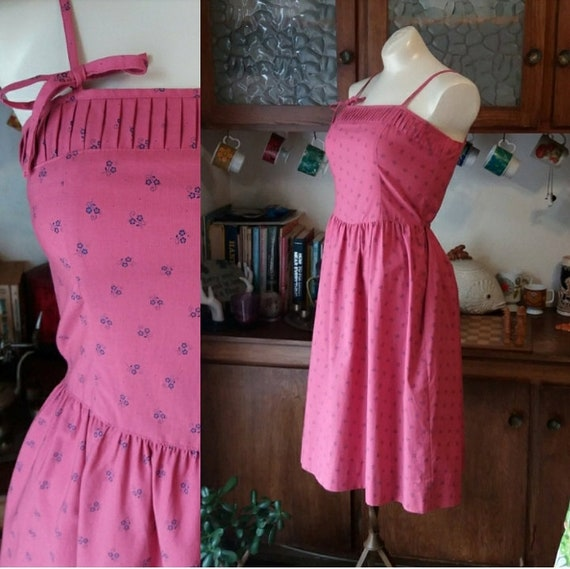 Bubblegum Girl Vintage Pink Summer Dress by Lanz O