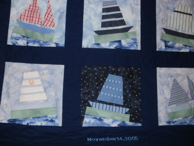 Baby Clothes Memory Quilt for Ryan