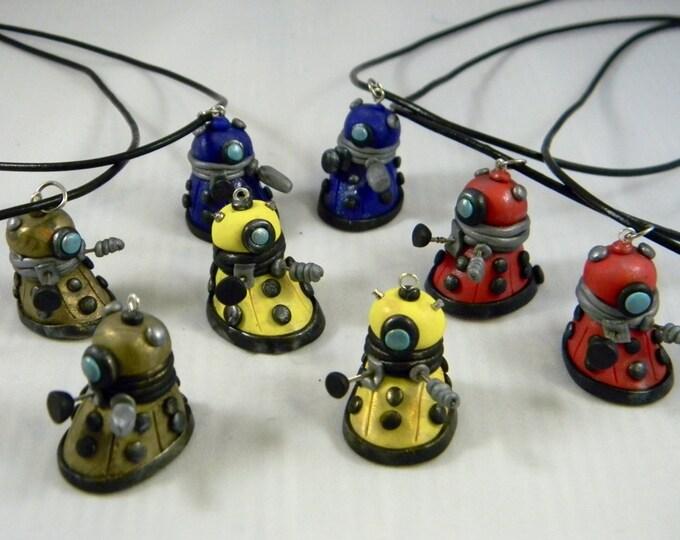 Dalek cult of skaro polymer clay pendant Whovian