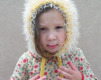 Dandelion Fluff Bonnet for Girls - Hat, Hood, Winterwear