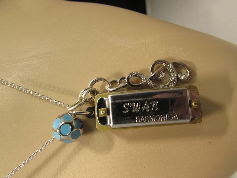 ArtPop Harmonica Music Note Necklace inspired by Lady Gaga image 0