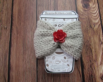 Red Rose Cozy for coffee or drinks