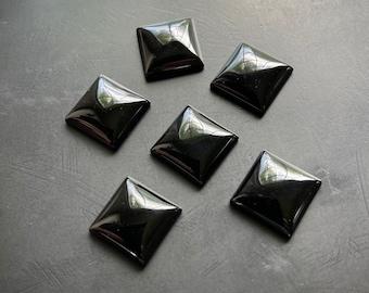 Onyx square cabochon 16 x 16 mm artisan jewelry making design supply Lori Lochner 6 cabochons