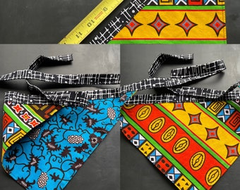 Handmade reversible dog bandana one of a kind African waxed cotton for medium to large dogs by Lori Lochner