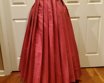 Raspberry Pleat Brigade Skirt One Size Fits All
