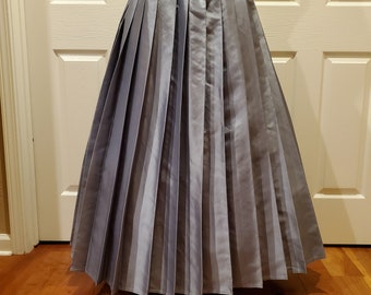 Pewter Pleat Brigade Skirt One Size Fits All