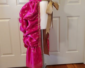 Fuchsia and Gold Huffen Bustle Skirt One Size Fits All