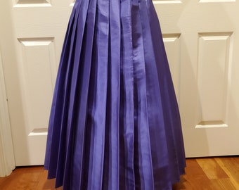 Royal Purple Pleat Brigade Skirt One Size Fits All