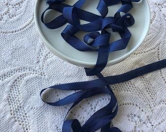 Hug Snug Blue Rayon Seam Binding 12 inch wide x 100 yards Blue Seam Binding Danube Blue Ribbon