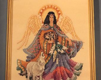 DESTASH Angels Six Heavenly designs by Barbara Baatz, vintage counted cross stitch chart, cross stitch, vintage pattern, Stepmother