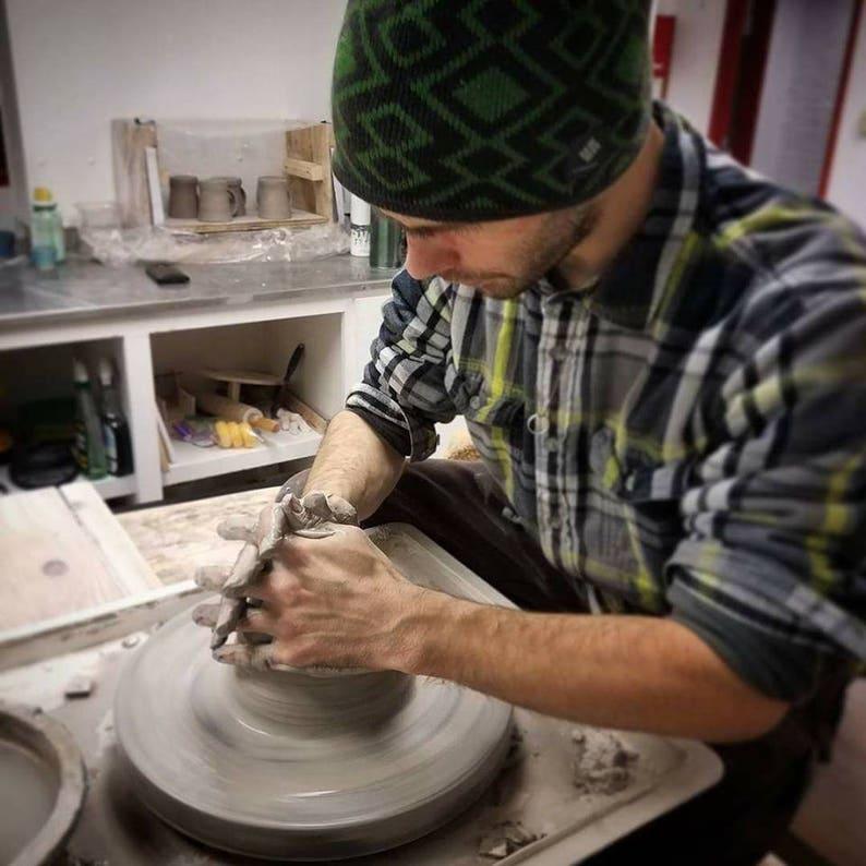 Handmade Pottery Ceramic Blue Incense Stick Holder By Powers Art Studio