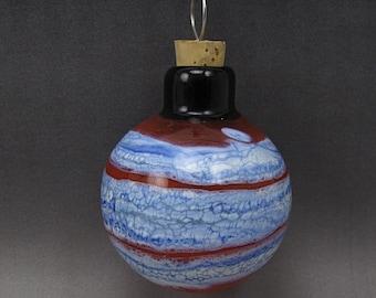 Handmade Lampwork Glass Blown Hollow Ornament by Jess Powers SRA