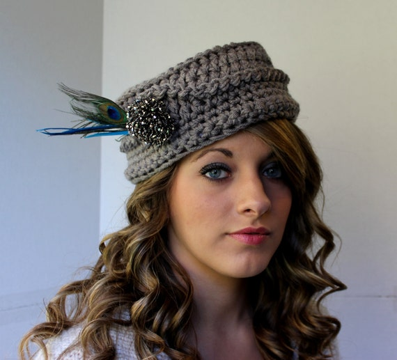 7e4b66bad9793 Crochet Pillbox Hat Pattern Vintage Inspired Photo   Etsy