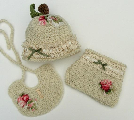Crochet Apple Hat Pattern 3 Piece Set Crochet Diaper Cover Etsy