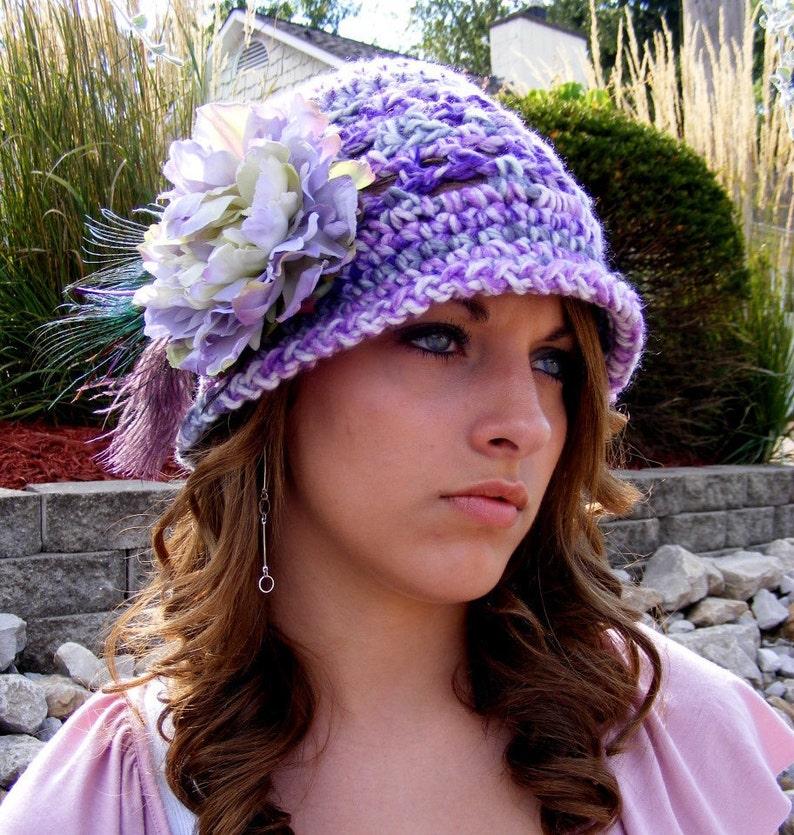e7be7c35e41 Crochet Hat Pattern Vintage Inspired Easter Fashion
