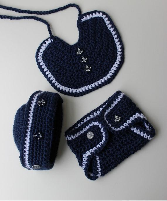 Crochet Sailor Hat Pattern Crochet Bib Pattern Crochet Etsy