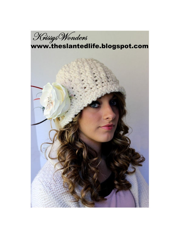 Crochet Hat Pattern Chunky Downton Abbey Inspired Cloche Etsy