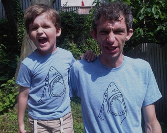 TWO SHIRTS for Fathers Day Pick 2 T shirt SALE Jaws Great White Shark Set