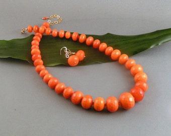 """Orange Dyed Jade - Rondelle """"Taste the Rainbow"""""""