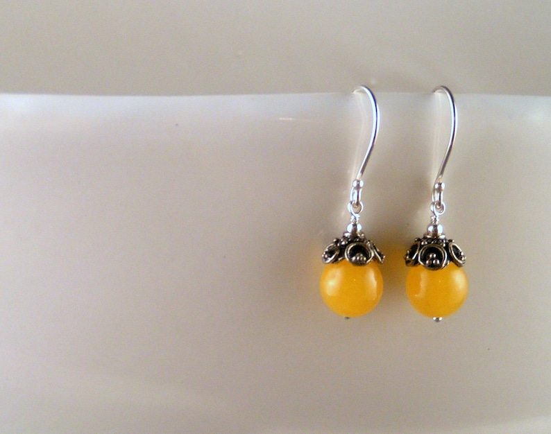 Yellow Agate Earrings image 0