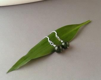 SALE - Green Agate Earrings