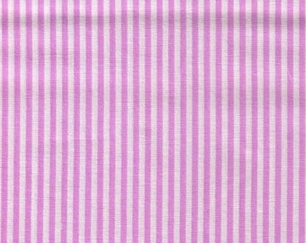 HALF YARD - Lecien Color Basic Stripes - 4520-PU Purple Stripes - Japanese Import Fabric