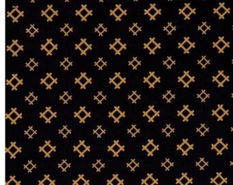 HALF YARD Yamaoka - Hashtags on Indigo 2310-1B - Dark Navy - Traditional Geometric Japanese