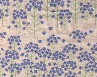 HALF YARD Yuwa - Mini Flowers on Natural - Cotton Linen Sheeting 443010-3 - Charmant Line Drawing - Japanese
