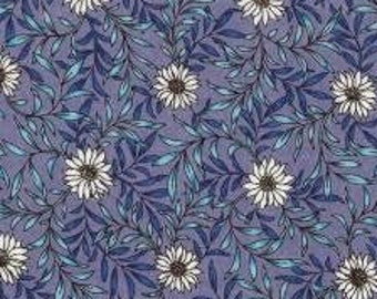 HALF YARD Lecien - Memoire a Paris 2019 - Daisies on Purple - 41088-110 - Cotton Lawn - Floral, Flower, Botanical - Japanese