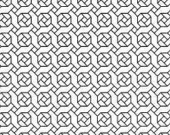 """OLYMPUS Sashiko sampler - Hitome-zashi - Rose Garden on WHITE H-1066 - 12"""" Pillow Dish towel - Hand Quilting & Stitching- Japanese"""