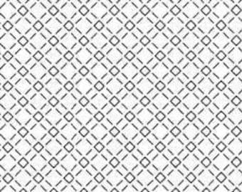 "Olympus Sashiko sampler - Hitome-zashi - Check on WHITE H-1073 - 12"" Pillow Dish towel - Hand Quilting & Stitching- Japanese"