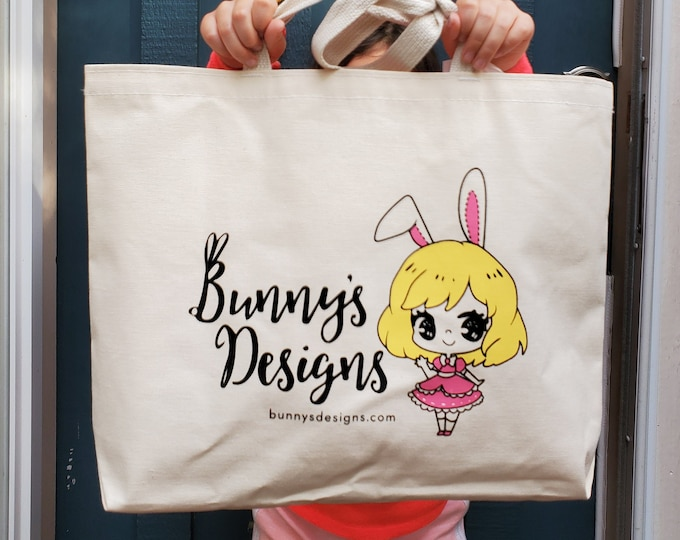 Featured listing image: Bunny's Designs Canvas Bag  - Reusable Tote