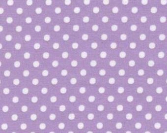 HALF YARD - Lecien - Color Basic - 4505-PU  White Dots on Light Purple  - Japanese Import Fabric