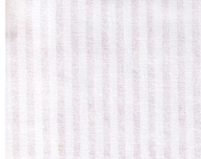 "Last Chance EOB - 24"" Cut - STOF Fabrics - Glimmering - Pearlescent White Stripe on White - 4592-115"