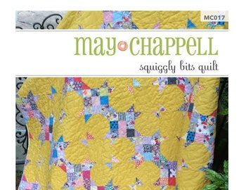 Squiggly Bits Quilt by May Chappell - Paper Pattern - MC017