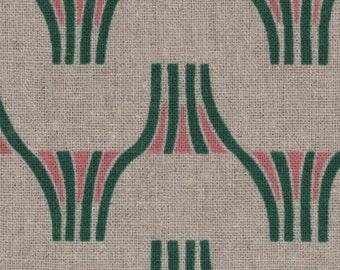 PRECUT - One Yard Precut - Tayutou by Fabrica Uka - Fijisan - Natural - 45/55 Cotton/Linen Blend Canvas- Kokka - Japanese Import