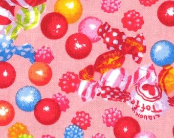 HALF YARD Lecien - Candy Shop Collection - Candy Party Grab Bag on PINK - 40846-20 - Toffee, Gumball - Japanese
