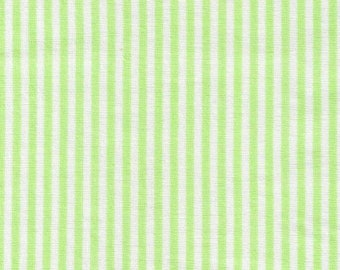 HALF YARD - Lecien Color Basic Stripes - 4520-G Green Stripes - Japanese Import Fabric