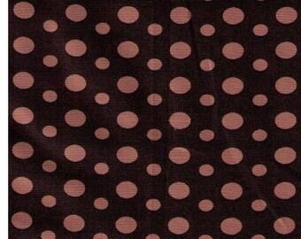 HALF YARD Yuwa - Light Brown Ovals and Dots on ESPRESSO  826270-C - Suzuko Koseki - Japanese Import Fabric