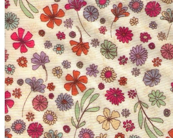 Sale (25) HALF YARD -  Mini Flowers on Cream  - LAWN - 9036 1A Cosmo Textile Japanese Import Fabric