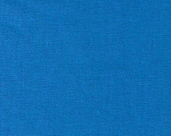HALF YARD Kokka -Tayutou Solid Bright Electric Blue - JG-50810-10H - 45 Cotton 55 Linen Lightweight Canvas - Japanese Import Fabric Solids