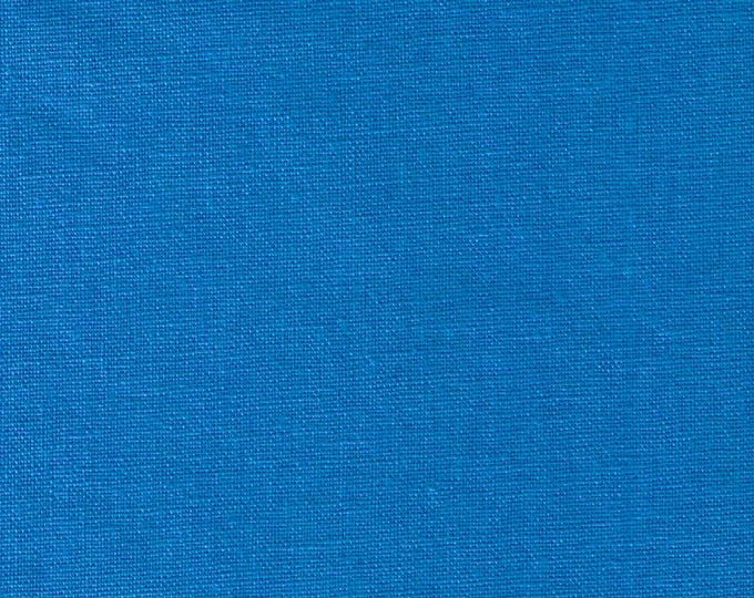 HALF YARD Kokka -Tayutou Solid Bright Electric Blue - JG50810-12H - 45 Cotton 55 Linen Lightweight Canvas - Japanese Import Fabric Solids